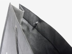 PP Non-Woven black without lamination, printed cord pocket