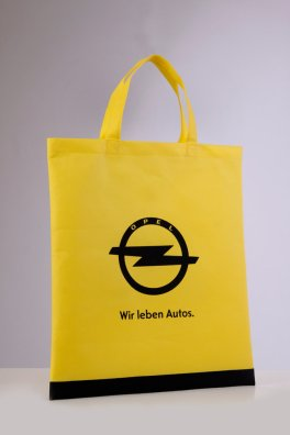 Opel Non Woven bags printed with screen print