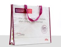 PP Woven carrying bags, advertising medium