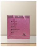 Non Woven printed bags soup film pink bagobag