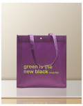 Non Woven printed bags soup film purple bagobag