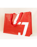 PP Woven Bag printed logo red white