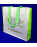 PP Woven Bag green handle green side Innotax