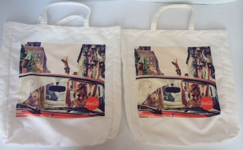 Coca Cola Cotton bag with digital prints