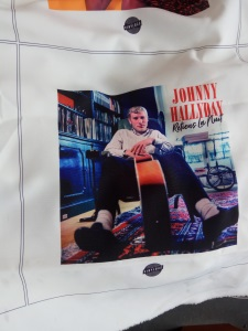 Johnny Hallday Cotton bag digitally prints