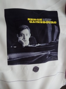 Serge Gainsbourg Cotton bags in digital printing vinyl bag