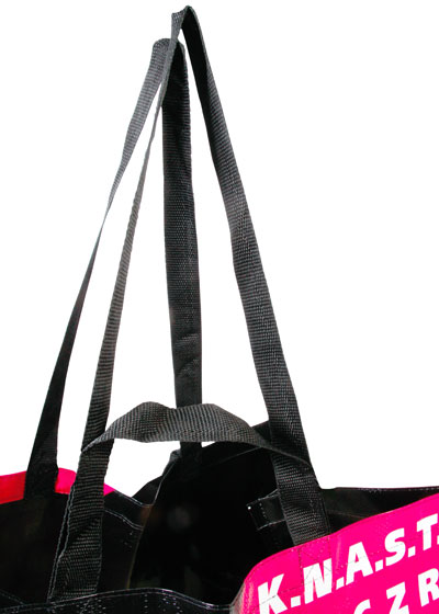 Coated PP woven bags, inside black