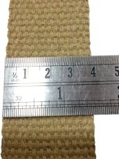 Cotton tape measured in product control, 3.7 cm wide, cotton handle of a jute bag
