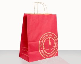 Arminiusmarkthalle, kraft paper bag, side and back