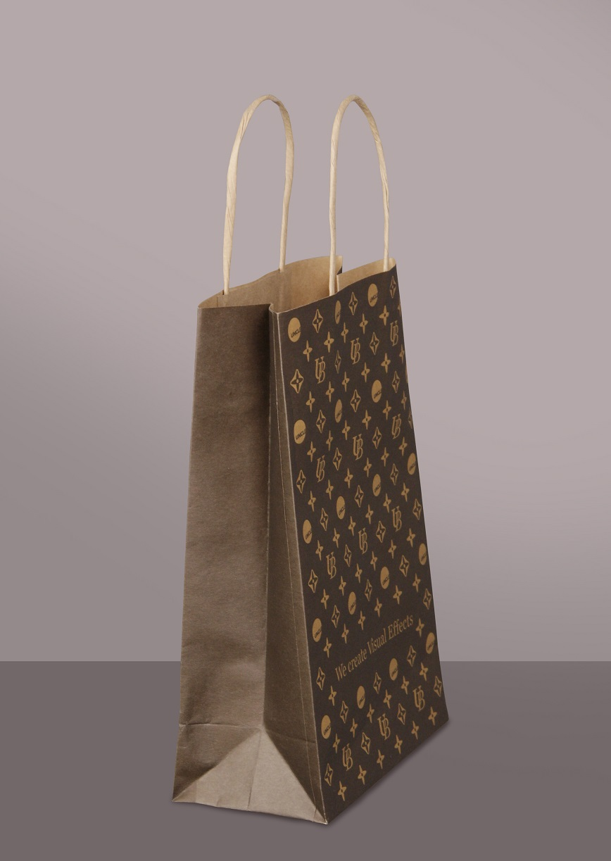 5*11*2.3 cm kraft paper gift bags, small brown jewelry