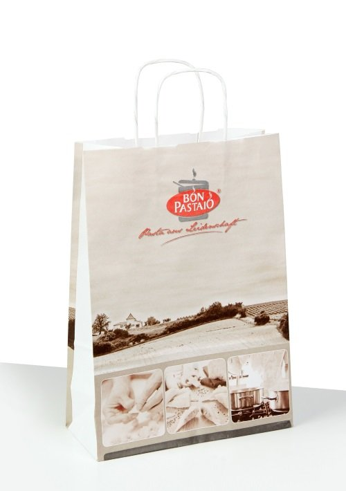 Paper bags, white kraft paper bag