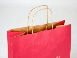 Paper bags with twisted paper cord, single-color printed on the outside
