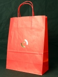 paper bag with paper cord red
