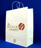 paper bag with paper cord dance for charity
