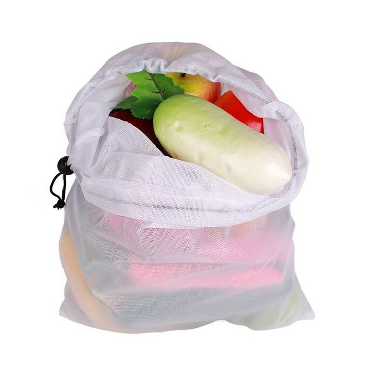 Fruit and vegetable bags, open