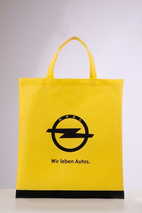 Opel Non Woven bags, non-woven in Pantone color dyed to customer requirements