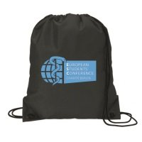 Cost-effective cord pull-bag made of nylon, variant European Students Conference