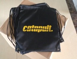 Cost-effective cord pull-bag made of nylon, variant Catapult