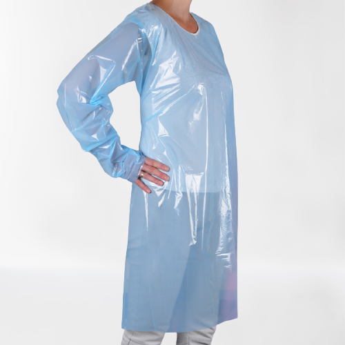 Disposable PE Apron, long sleeves